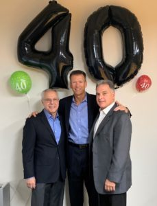 Frank, Bill and Carl celebrating 40 years